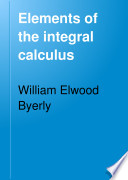 Elements of the Integral Calculus Book