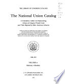 The National union catalogs, 1963-  : A cumulative author list representing Library of Congress printed cards and titles reported by other American libraries , Band 41