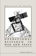 Operational Research in War and Peace