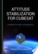 Attitude Stabilization for CubeSat