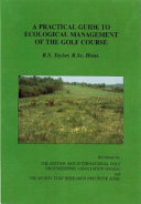 A Practical Guide to Ecological Management of the Golf Course