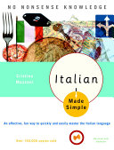 Italian Made Simple [Pdf/ePub] eBook