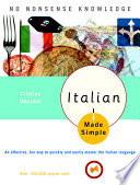"""""""Italian Made Simple: Revised and Updated"""" by Cristina Mazzoni"""