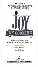VOLUME 2 APPETIZERS DESSERTS AND BAKED GOODS JOY OF COOKING