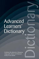 Advanced Learner's Dictionary ebook