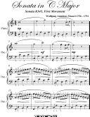 Sonata In C Major Sonata K545 First Movement Easiest Piano Sheet Music