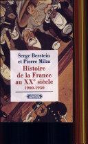 Histoire de la France au XXe siècle: 1900-1930