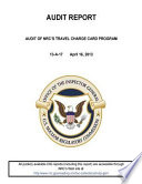 Audit of Nrc's Travel Charge Card Pprogram