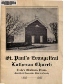 St. Paul's Evangelical Lutheran Church, Craig's Meadows, Penna., Smithfield Township, Monroe County, 1855-1955