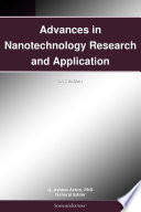 Advances in Nanotechnology Research and Application  2012 Edition