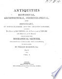 Antiquities historical, architectural, chorographical, and itinerary, in Nottinghamshire and the adjacent counties