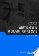 WHAT'S NEW IN MS OFFICE 2013