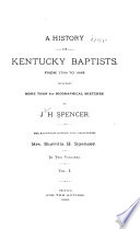 A History Of Kentucky Baptists