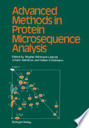Advanced Methods in Protein Microsequence Analysis Book