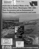 Pesticides in surface water of the Yakima River basin, Washington, 1999-2000