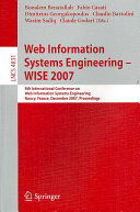 Web Information Systems Engineering     WISE 2007