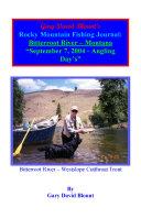 Pdf BTWE Bitterroot River - September 7, 2004 - Montana Telecharger
