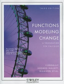 Functions Modeling Change  A Preparation for Calculus Book