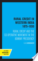 Rural Credit in Western India 1875 1930