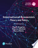 Cover of International Economics: Theory and Policy, Global Edition