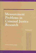 Measurement Problems in Criminal Justice Research: