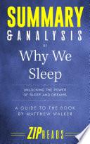 Summary & Analysis of Why We Sleep