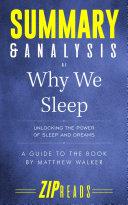 Summary & Analysis of Why We Sleep Pdf/ePub eBook