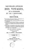 Nouvelles Annales Des Voyages, de la Géographie Et de L'histoire Ou Recueil Des Relations Originales Inédites
