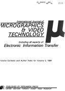 The International Journal of Micrographics   Video Technology