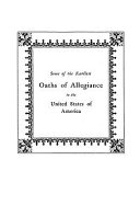 Some of the Earliest Oaths of Allegiance to the United States ebook