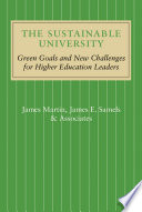 The Sustainable University Book PDF