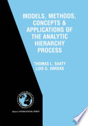 Models  Methods  Concepts   Applications of the Analytic Hierarchy Process