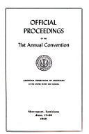 Official Proceedings  of The  Convention