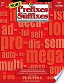 More Prefixes And Suffixes Ebook