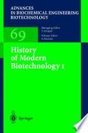 History of Modern Biotechnology I Book