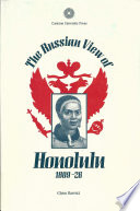 Book cover for The Russian view of Honolulu, 1809-26