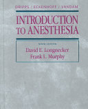 Dripps Eckenhoff Vandam Introduction to Anesthesia