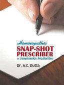 Pdf Homoeopathic Snap Shot Prescriber