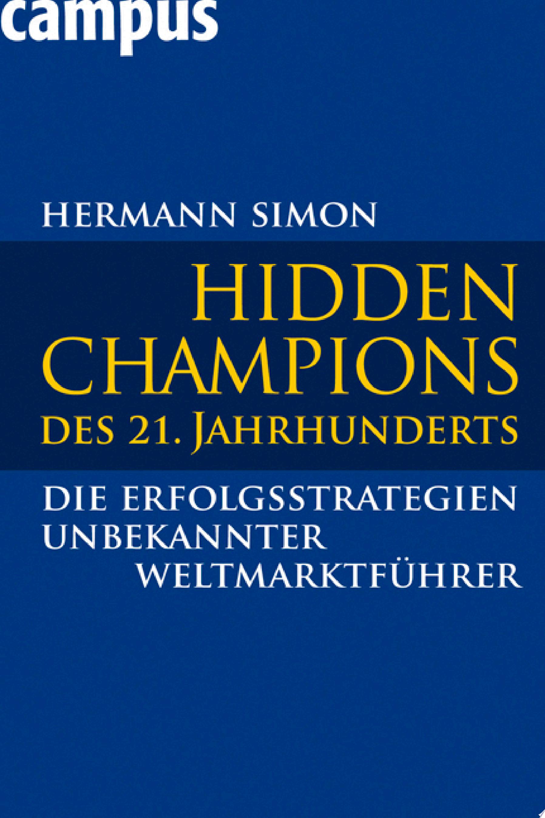 Hidden Champions des 21  Jahrhunderts