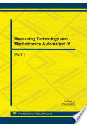 Measuring Technology and Mechatronics Automation IV