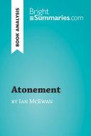 Atonement by Ian McEwan  Book Analysis