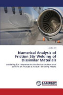 Numerical Analysis of Friction Stir Welding of Dissimilar Materials