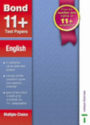 Bond 11+ Test Papers English Multiple-Choice