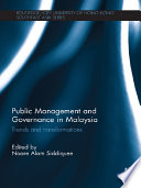 Public Management and Governance in Malaysia