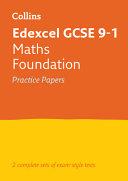 Edexcel GCSE 9-1 Maths Foundation Practice Test Papers