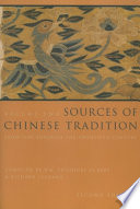 Sources of Chinese Tradition Book