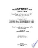 Amendments To The Social Security Act 1969 1972
