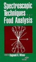 Spectroscopic Techniques for Food Analysis Book