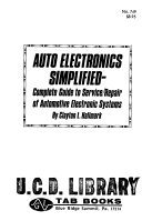 Auto Electronics Simplified