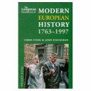 The Longman Handbook of Modern European History  1763 1997